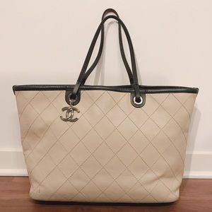 Chanel Large Fever Tote Beige